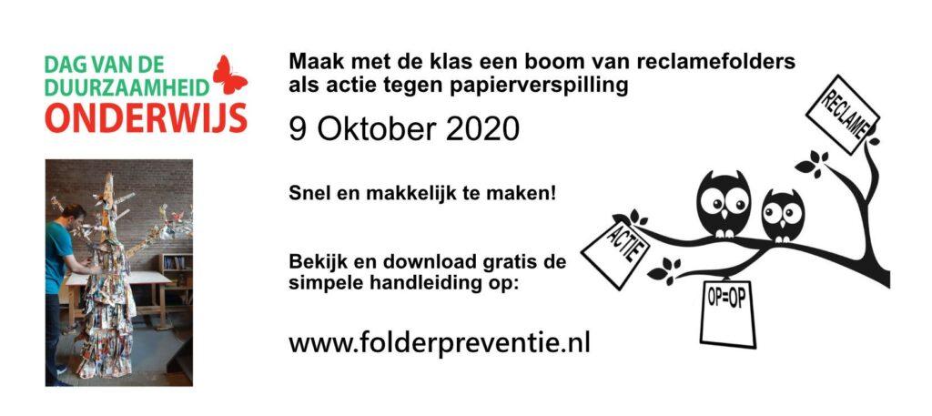 De folderboom actie tegen papierverspilling